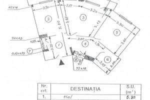 Apartament 2 camere, decomandat, etaj 3, 53mp utili, b-dul Ion Mihalache.