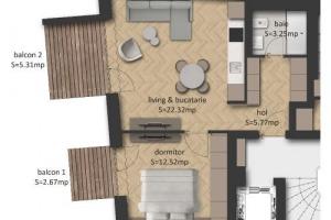 Apartament 2 camere Eminescu (Stefan cel Mare)