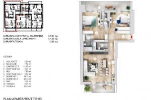 Apartament 3 Camere  Etaj 3  în zona Kiseleff  Bloc 2020