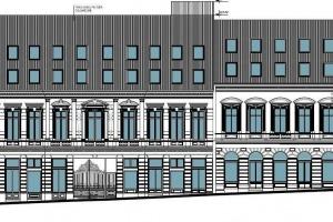 P-ta Unirii Centrul Vechi S+P+1+2M  2000 MP Comercial si 27 Apart Hotel