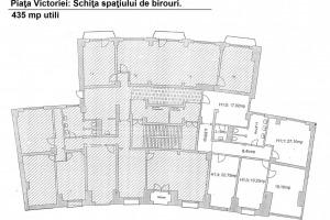 Piata Victoriei: Spatiu de birouri generos, 440mp utili.