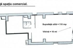 Spatiu comercial de 110mp utili, disponibil in zona Centrul Istoric.
