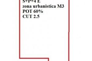 Teren Dacia S+P+4E, POT 60%,CUT 2,5