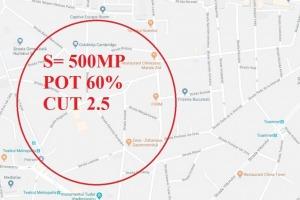 Teren Stefan cel Mare,POT 60%, CUT 2.5